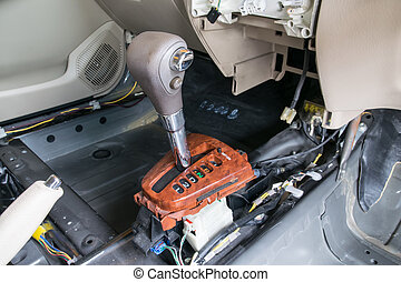 Repair a gear shift and knob, gear shift removing