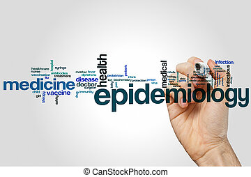 epidemiología, palabra, nube