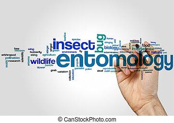 Entomología, palabra, nube,