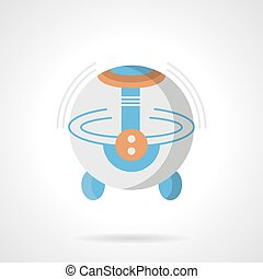 Room humidifier flat color vector icon - Ball-shaped modern...