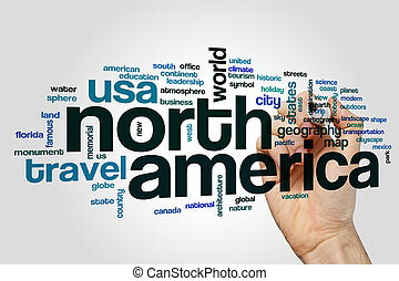 North America word cloud concept - North America word cloud