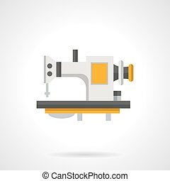 Professional sewing flat color vector icon - Sewing machine...