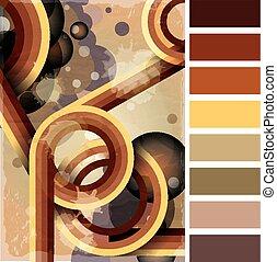 Retro poster palette