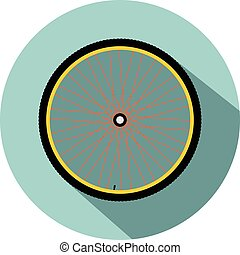 Bicycle wheel, vector eps 10