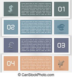 Elements of infographics, vector