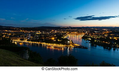 Koblenz Oldtown Timelapse - Timelapse sequence of Deutsches...