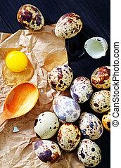 codorniz, huevos,
