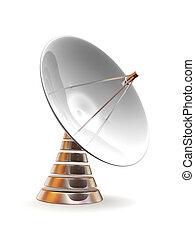 Satellite dish. 3d