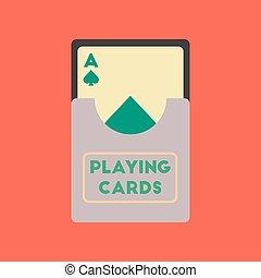 flat icon on stylish background playing cards - flat icon on...