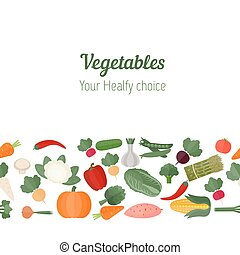 Background with various vegetables