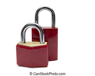 Two red padlocks.