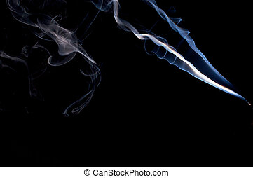 real smoke abstract design - a wispy cloud of real incense...