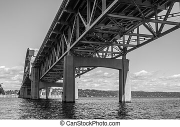 Beneath Highway Bridge 2 - A view from under the I-90 bridge...