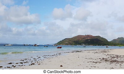 Tropical beach at Praslin island - Tropical beach of Anse...
