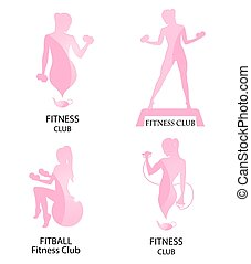 fitness club pink icon