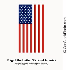 USA Flag or American flag in correct proportion and colors