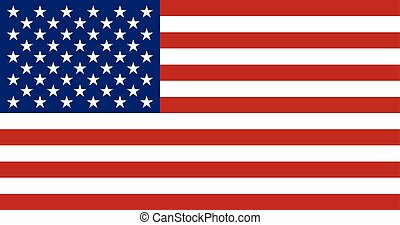 Flag of USA in correct proportion and colors