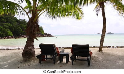 Tropical landscape view, Seychelles - Sunny and tropical...