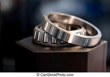 Cylindrical bearing with bokeh background