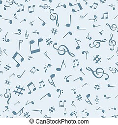 Abstract music notes seamless pattern background vector illustration for your design