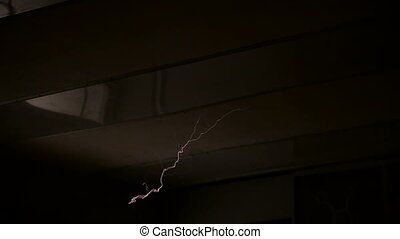 High voltage electrical discharge generated