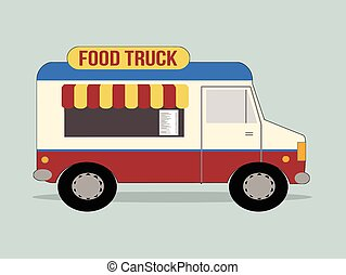 Food truck - Vector illustration of food truck