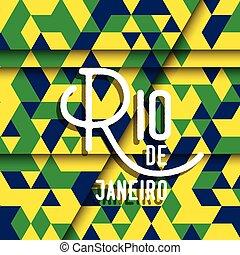 Abstract geometric Rio de Janeiro background - Abstract Rio...