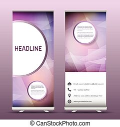 Advertsing roll up banners with abstract design - Two...