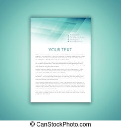 business letterhead - Template design for a business...