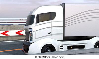 Hybrid trucks on the highway - Self driving hybrid trucks on...