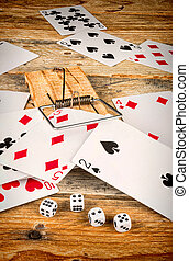 Compulsive gambling, a conceptual shot.