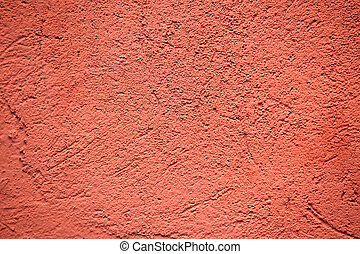 red colored plaster wall background
