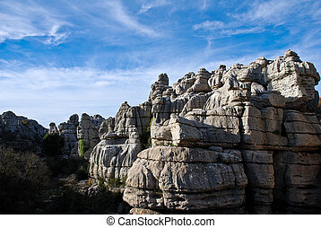 Torcal Rocks - El Torcal Park, Nature Reserve, Spain