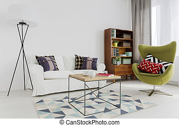 Stylish harmony of different furniture pieces - Room corner...