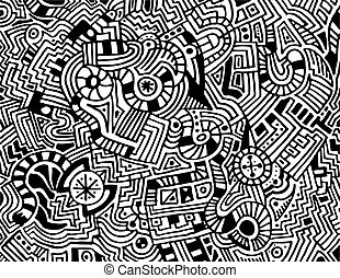 Hand Drawn Abstract Vector Background