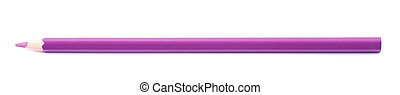 Drawing pencil isolated - Single violet drawing pencil...