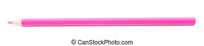 Drawing pencil isolated - Single pink magenta drawing pencil...