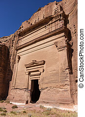Uneishu Tomb. Petra, Jordan. No people