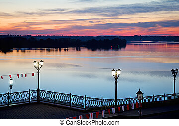 Embankment of the Volga River Uglich Russia - Embankment of...