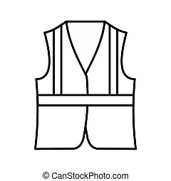 Vest icon, outline style