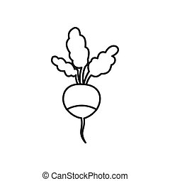 Fresh radish icon, outline style - Fresh radish icon in...
