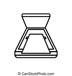 Open scanner icon, outline style - Open scanner icon in...