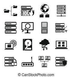 Big data icons set, simple style - Big data icons set in...