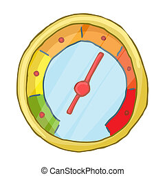 Speedometr icon, cartoon style - Speedometr icon in cartoon...