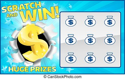 Lottery Scratch Card - A lottery instant scratch and win...