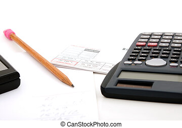 Adding Up the Bills - Adding up the monthly expenses for...