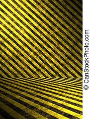 3D Hazard Stripes Interior