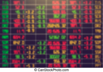 blurry stock market for background vintage color