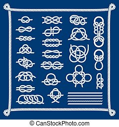 Rope knots vector illustration - Rope knots collection...