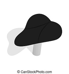 Black bicycle seat icon, isometric 3d style - icon in...